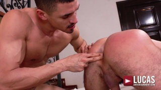 bearded spanish hunk takes this dude's super fat cock easily