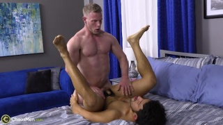 Sexy Blond Muscle Hunk Fucks Latino Stud