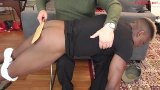 Beefy Cadet Goes Over Man's Knee for Spanking
