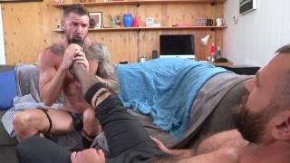 Daddy Porn Stars Show Their  Love of Feet & Sheer Socks