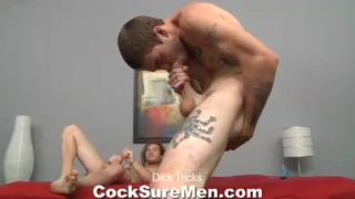 Hunks measure up their big cocks and compete