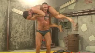 hard male muscle wrestling