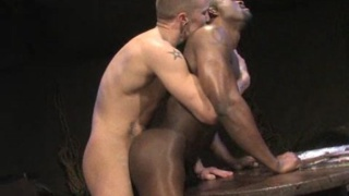 Big black man fucked by white guy