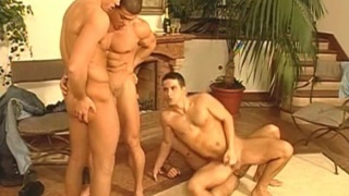 wild orgy with euro muscle hunks