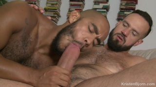 hung bearded daddy stuffs his fat cock in bottom's ass