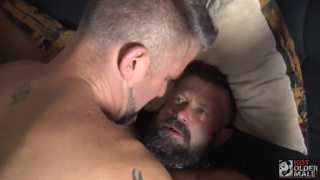 handsome bearded daddy gets fucked by younger guy