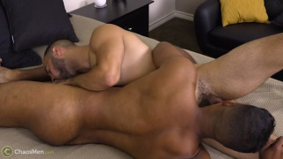 two latin hunks swap blowjobs in a 69 position