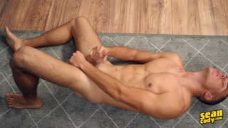 bisexual russian guy strokes his beautiful cock