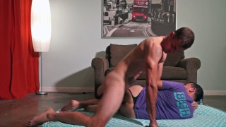 straight guy fucks cocksucker on the floor