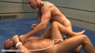 training session turns into naked wrestling brawl