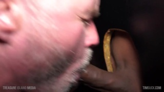 two daddies swap head at the glory hole