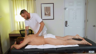 masseur with a big dick fucks his client's ass