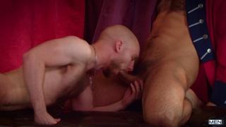 hairy hispanic man fucks a bald british guy