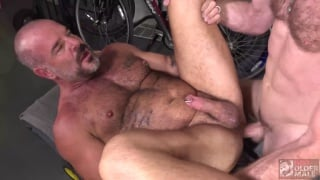hairy men fucking each other in the garage