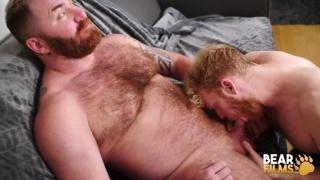 bearded ginger top fucks a ginger bottom