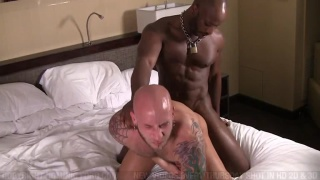 Hot black guy fucks white ass hard