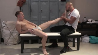 Coach Gives Star Player a Foot Massage Before Fucking Him