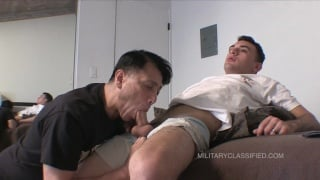 18-Year-Old Cums All Over Older Guy's Ass