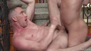 cock-hungry stud invites hung buddy over for sex