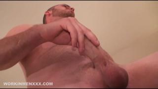 Redneck Gets his Asshole Fingered while Masturbating