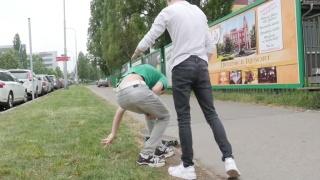 Guys Helps Injured Skateboarder & Fucks Him at Home