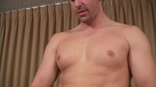 Beefy and married stud jerks off