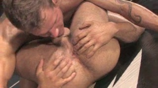 Wrestling turns into fuck session