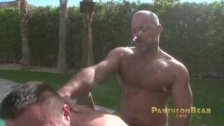 Muscle Bears fucking outdoors in the sun
