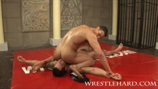 bodybuilder sex wrestle with Adonis