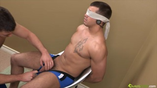 Edging blind folded