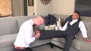 Naughty guys fucking on the couch