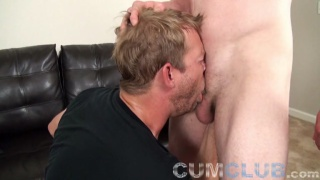 hot ginger with a large cock gets a good blowjob