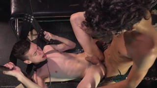 twink gets dominated & spanked by a dominant friend
