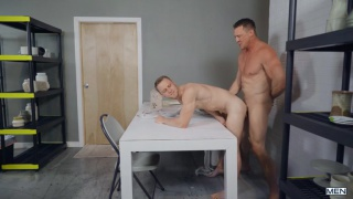 sculptor bangs his assistant's ass with his huge cock