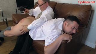 student goes over headmaster's knee