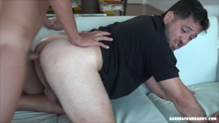 Daddy wants guy's young cock up his fat ass