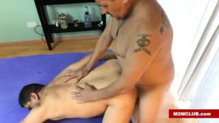 chubby daddy fucks bottom with his ass in the air