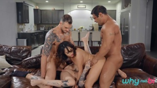 husbands & wives swap in bisexual fourway