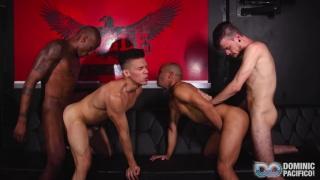 six men fucking bareback at brazilian leather bar