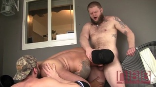 Horny Couple Take Turns Drilling Beefy Latino's Raw Ass