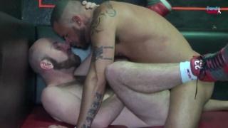 Scruffy Bald French Men Fucking in Bar