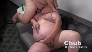 Silver-Haired Chub Gets Face Fucked During Audition