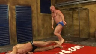 Nude Wrestling with muscle studs