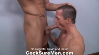 Hunks explore each others bodies