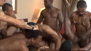 8 Black Men Fucking