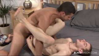 British lad gets fed cock