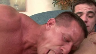 Straight Bodybuilder Fucks First Guy Ass