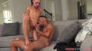 guy's raw cock stretches his buddy's ass apart
