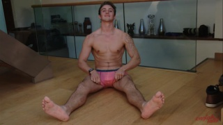 english lad finn wright in pink underwear briefs