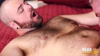 silver daddy fucks a bald, bearded bear